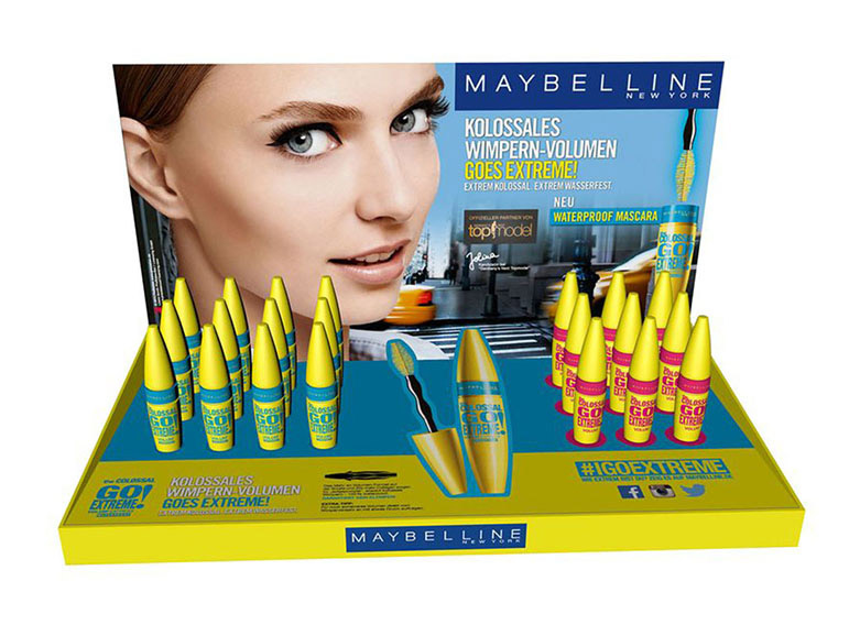 Maybelline, Thekendisplay