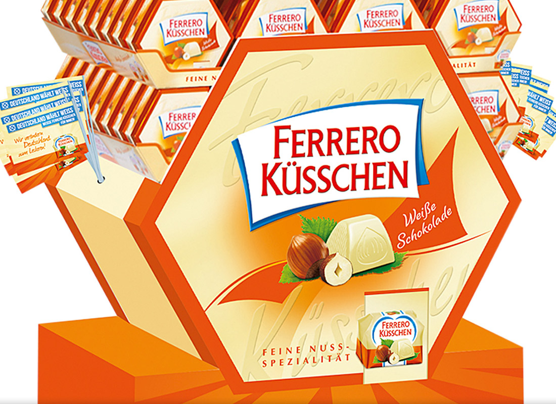 Ferrero, Küsschen, Display